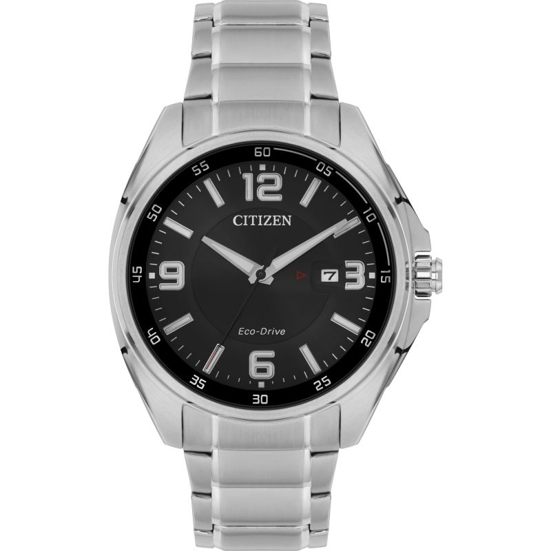 Mens Citizen Eco-drive Gents Eco-Drive Bracelet WR100 Stainless Steel Watch AW1511-51E