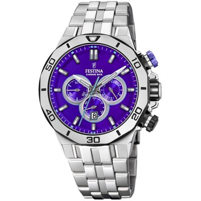 Festina Tour Of Britain 2019 Herenchronograaf Zilver F20448/D
