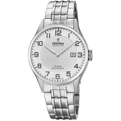 Festina Swiss Made Herenhorloge Zilver F20005/1