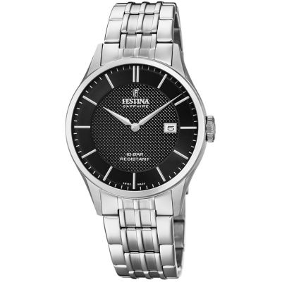 Festina Swiss Made Herenhorloge Zilver F20005/4