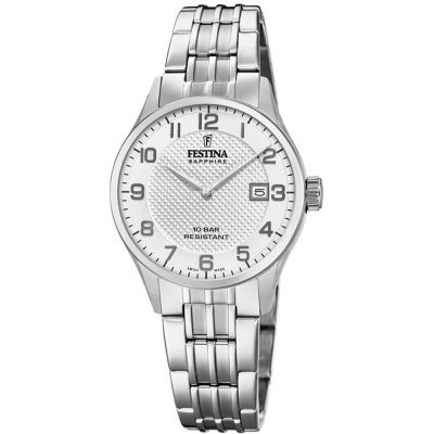 Festina Swiss Made Dameshorloge Zilver F20006/1