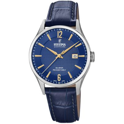 Festina Swiss Made Herenhorloge Blauw F20007/3