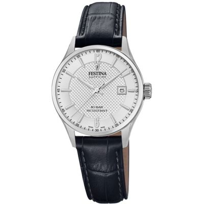Festina Swiss Made Dameshorloge Zwart F20009/1