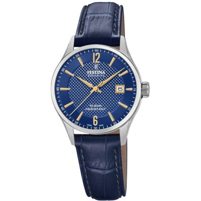 Festina Swiss Made Dameshorloge Blauw F20009/3