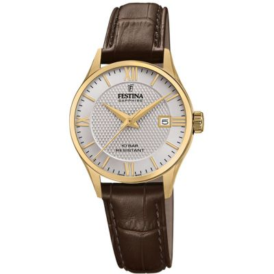 Festina Swiss Made Dameshorloge Bruin F20011/2