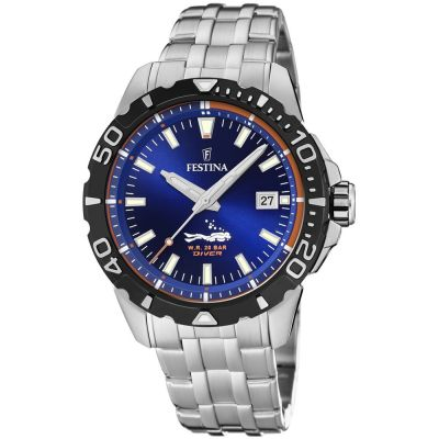 Festina Divers Watch Herenhorloge Zilver F20461/1