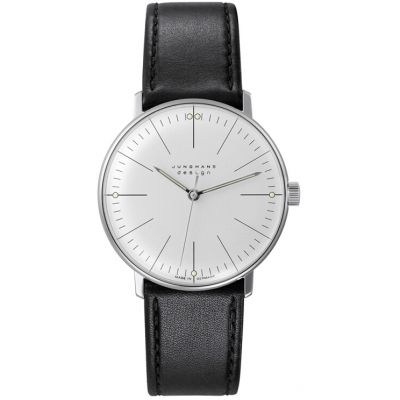 Junghans Max Bill Handwinding Herrenuhr in Schwarz 027/3700.04