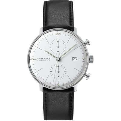 Mens Junghans Max Bill Chronoscope Automatic Chronograph Watch 027/4600.04