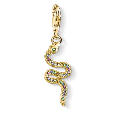 Thomas Sabo Yellow Gold Snake Charm Sterlingsilver 1813-488-7
