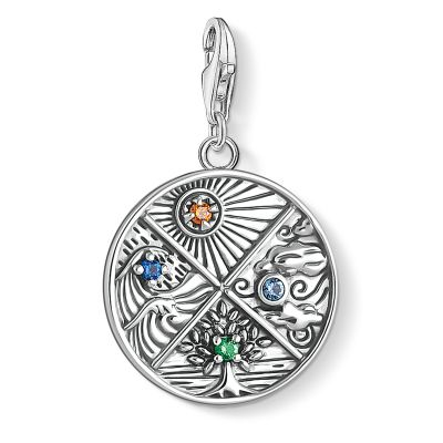 Thomas Sabo Earth, Water, Air, Fire Four Elements Charm Sterlingsilver 1814-945-7
