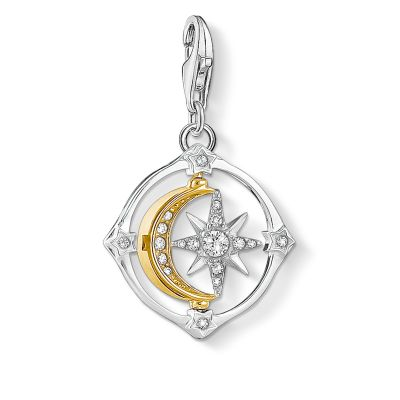 Thomas Sabo Compass Moon & Star Charm Sterlingsilver 1815-414-7