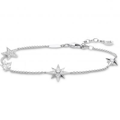 Thomas Sabo Silver Magic Stars Multiple Star Bracelet Sterlingsilver A1916-051-14-L19V