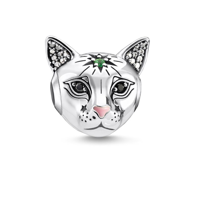 Thomas Sabo Silver Cat Bead K0326-845-7