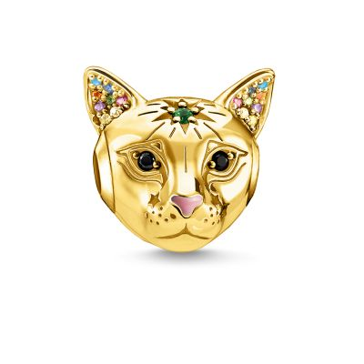 Thomas Sabo Gold Cat Bead Sterling Zilver K0327-471-7