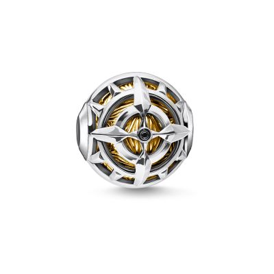 Thomas Sabo Silver Gold Compass Bead Sterlingsilver K0334-414-7