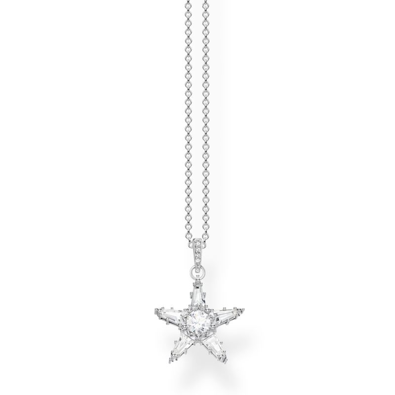 Thomas Sabo Zirconia Magic Stars Necklace KE1899-051-14-L45V