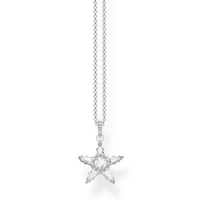 Thomas Sabo Zirconia Magic Stars Necklace Sterlingsilver KE1899-051-14-L45V