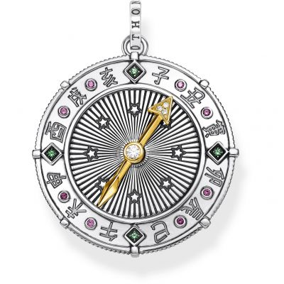 Thomas Sabo Chinese Signs Compass Pendant Sterlingsilver PE853-488-7
