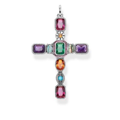 Thomas Sabo Magic Stones Colourful Cross Pendant Sterlingsilver PE859-294-7