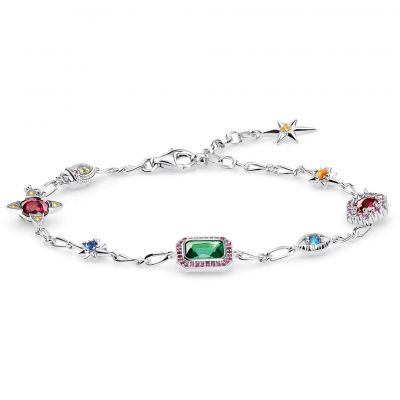 Thomas Sabo Magic Stones Silver Lucky Charms Armband Sterling-Silber A1914-348-7-L19V