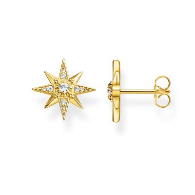 Bijoux Thomas Sabo Gold Zirconia Magic Stars Ear Studs H2081-414-14