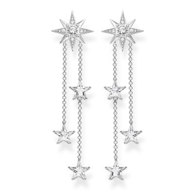 Thomas Sabo Zirconia Magic Stars Drop Earrings Sterlingsilver H2084-051-14