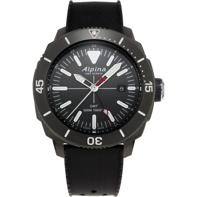Alpina Seastrong Diver GMT Watch AL-247LGG4TV6
