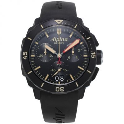 Alpina Seastrong Diver 300 Big Date Watch AL-372LBBG4FBV6