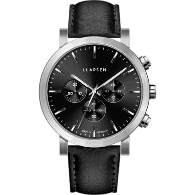 LLARSEN LW49 Nor Herrenchronograph in Schwarz 149SBS3-SINK20