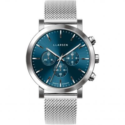 LLARSEN LW49 Nor Herrenchronograph in Silber 149SDS3-MS20