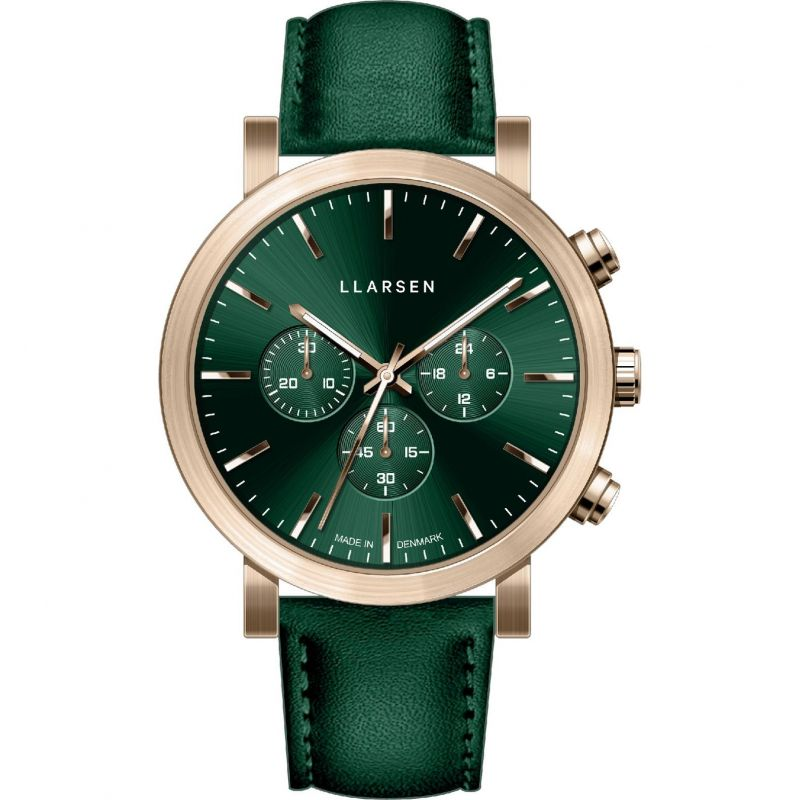 Mens LLARSEN Nor Chronograph Watch 149ZFZ3-ZGREEN20