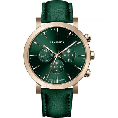 LLARSEN LW49 Nor Herrenchronograph in Grün 149ZFZ3-ZGREEN20