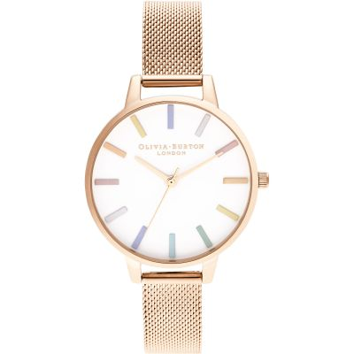 Olivia Burton Rose Gold Mesh Damklocka Rose Gold OB16RB24