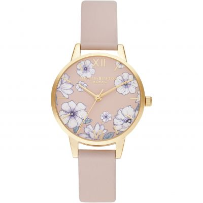 Ladies Olivia Burton Eco Candy Pink & Gold Watch OB16AN04