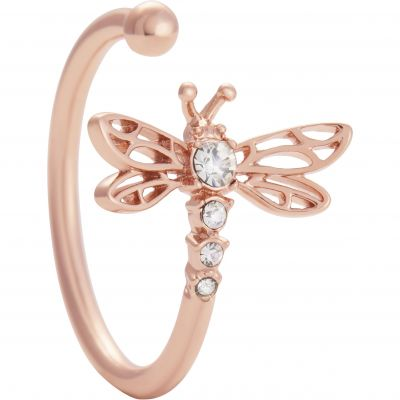 Dancing Dragonfly Ring Rose Gold Ring OBJAMR47