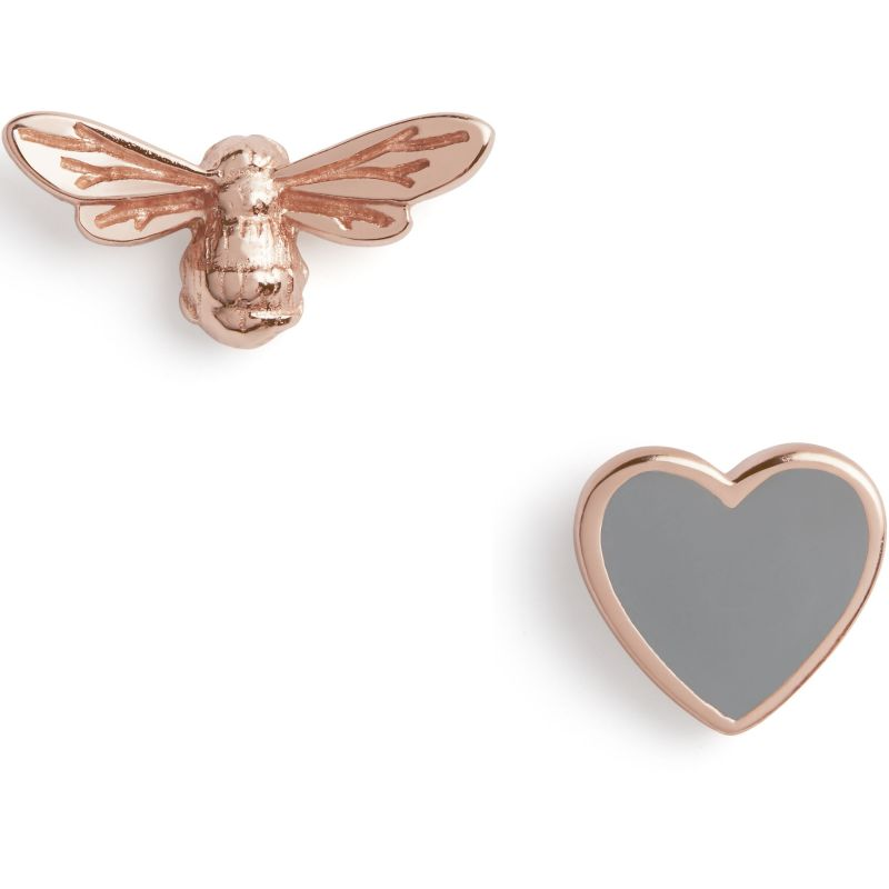 You have my Heart Studs Grey & Rose Gold Earrings OBJLHE45
