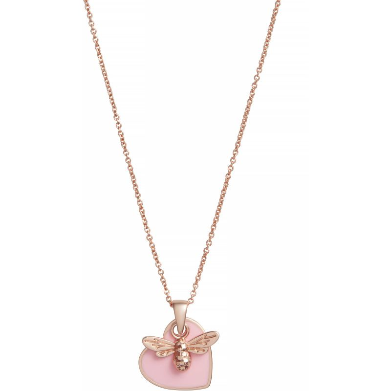 You have my Heart Necklace Pink & Rose Gold Necklace OBJLHN16