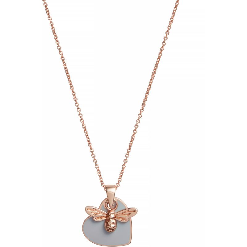 You have My Heart Necklace Grey & Rose Gold Necklace OBJLHN17