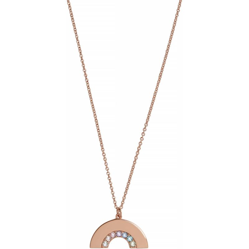 Rainbow Necklace Rose Gold Necklace OBJRBN03