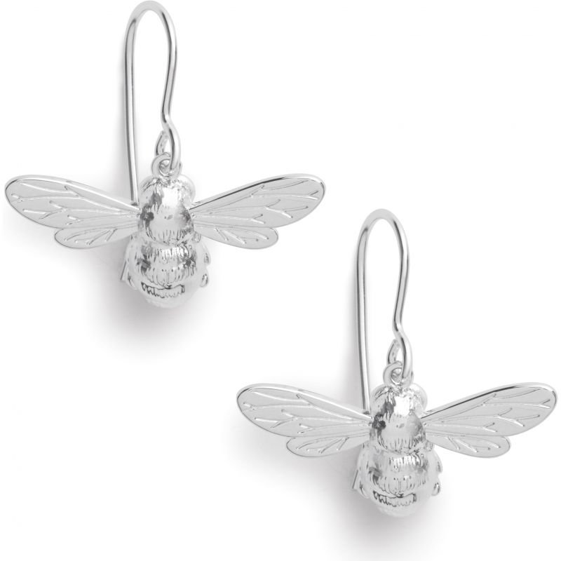 Lucky Bee Sleepers Silver Earrings OBJAME171N