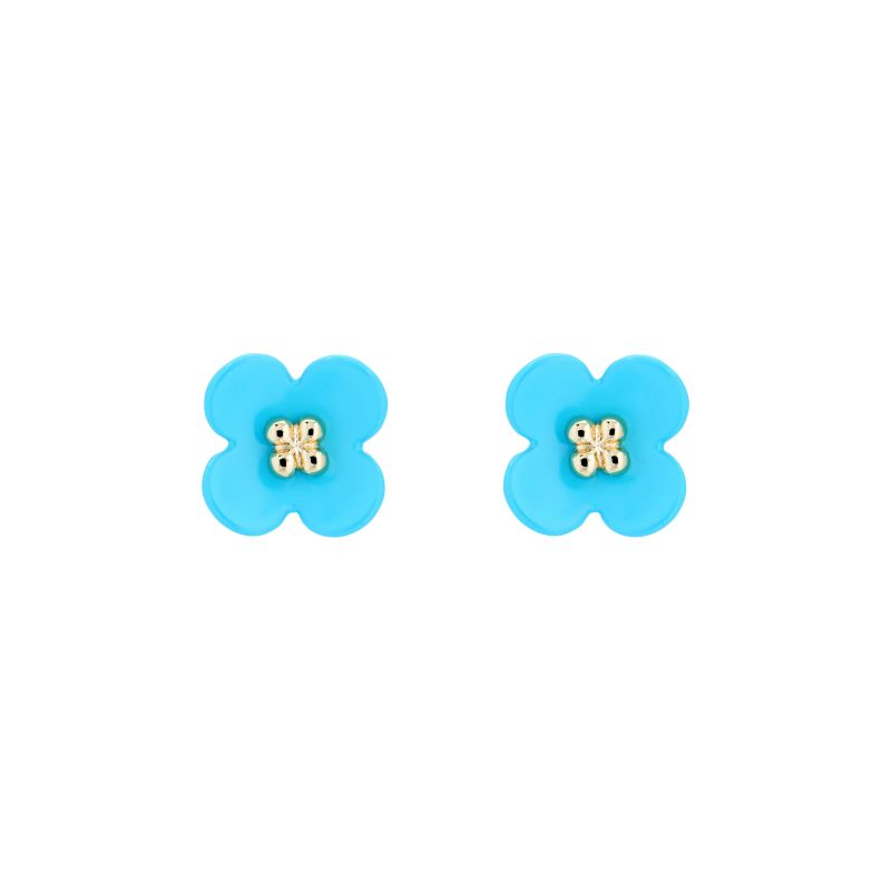 Turnip Flower Stud Earrings AWA168-02-87