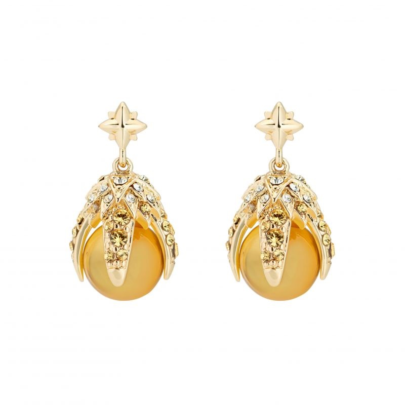 Eagle Crystal Ball Drop Earrings AWA099-02-385