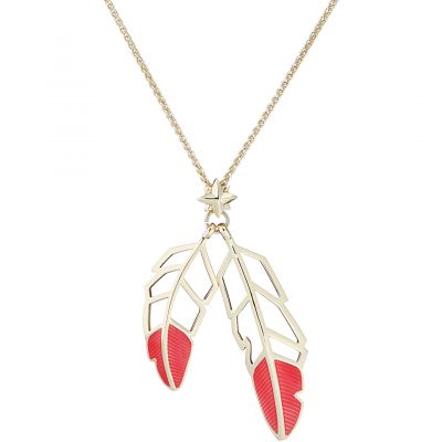 All We Are Feather Drop Pendant AWA106-02-92