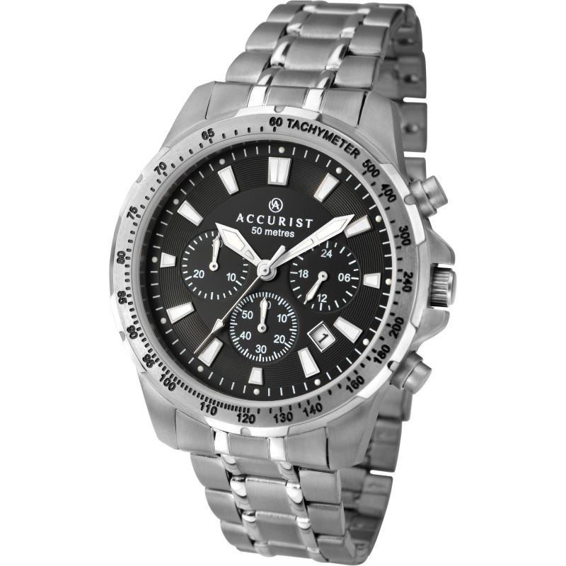 Mens Accurist Titanium Chronograph Watch 7002