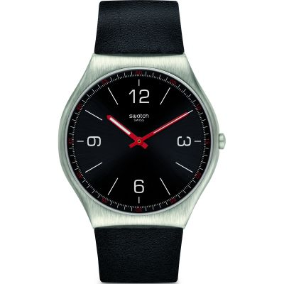 Mens Swatch Skinblack Watch SS07S100