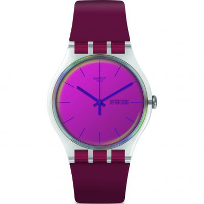 Swatch Polared Unisexklocka Röd SUOK717