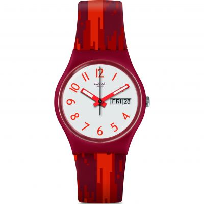 Reloj para Unisex Swatch Red Flame GR711