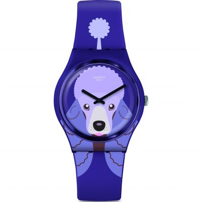 Swatch Original Gent Purple Poodle Unisexuhr in Lila GV133