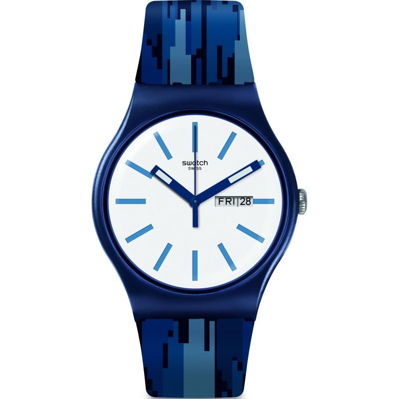 Mens Swatch Fiammablu Watch SUON712