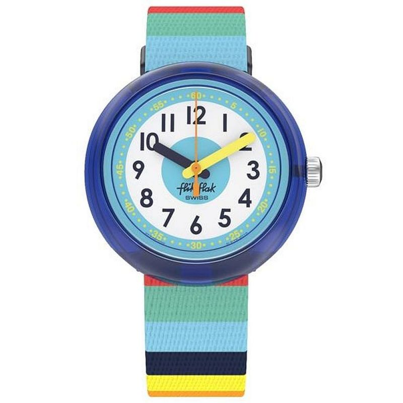 Childrens Flik Flak Stripybow Watch ZFPNP056